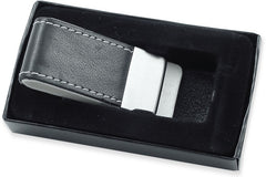 Leather Stitched Money Clip