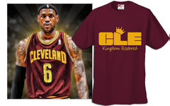 Lebron  Kingdom Restored CLEveland Men's T-shirt