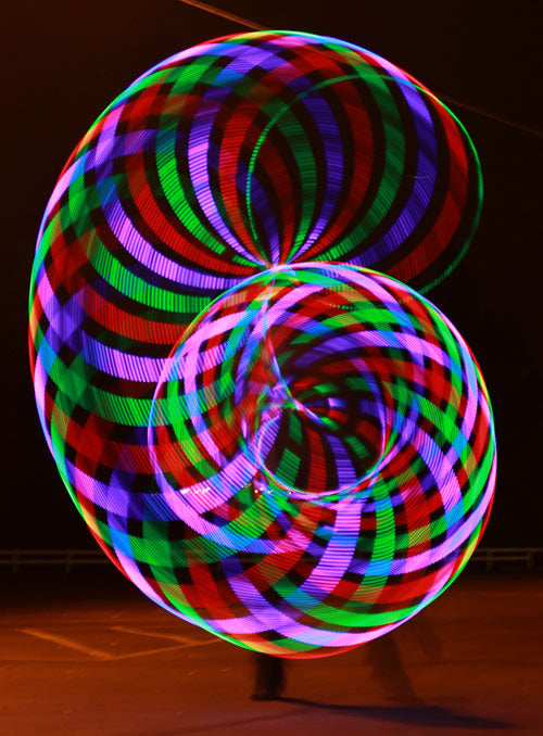 Led Hula Hoop - Light Up Rave and Dance Hula Hoop with 36 Led Lights