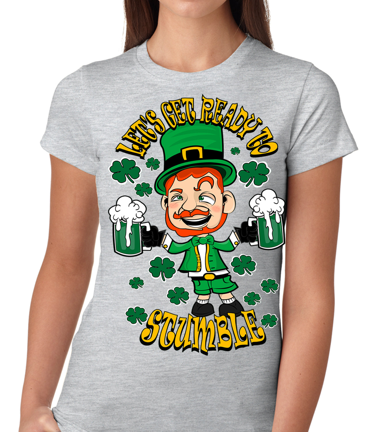 Leprechaun Let's Get Ready To Stumble Girls T-shirt