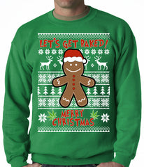 Let's Get Baked Ugly Christmas Sweater Crewneck Sweatshirt