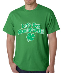 Let's Get ShamROCKED Funny Irish Mens T-shirt