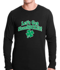 Let's Get ShamROCKED Funny Irish Thermal Shirt