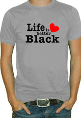 Life Is Better Black T-Shirt