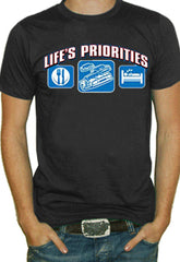 Lifes Priorities Racing T-Shirt