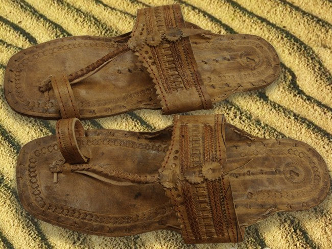 Light Tan Unisex Water Buffalo Hippie Jesus Sandals Bewild