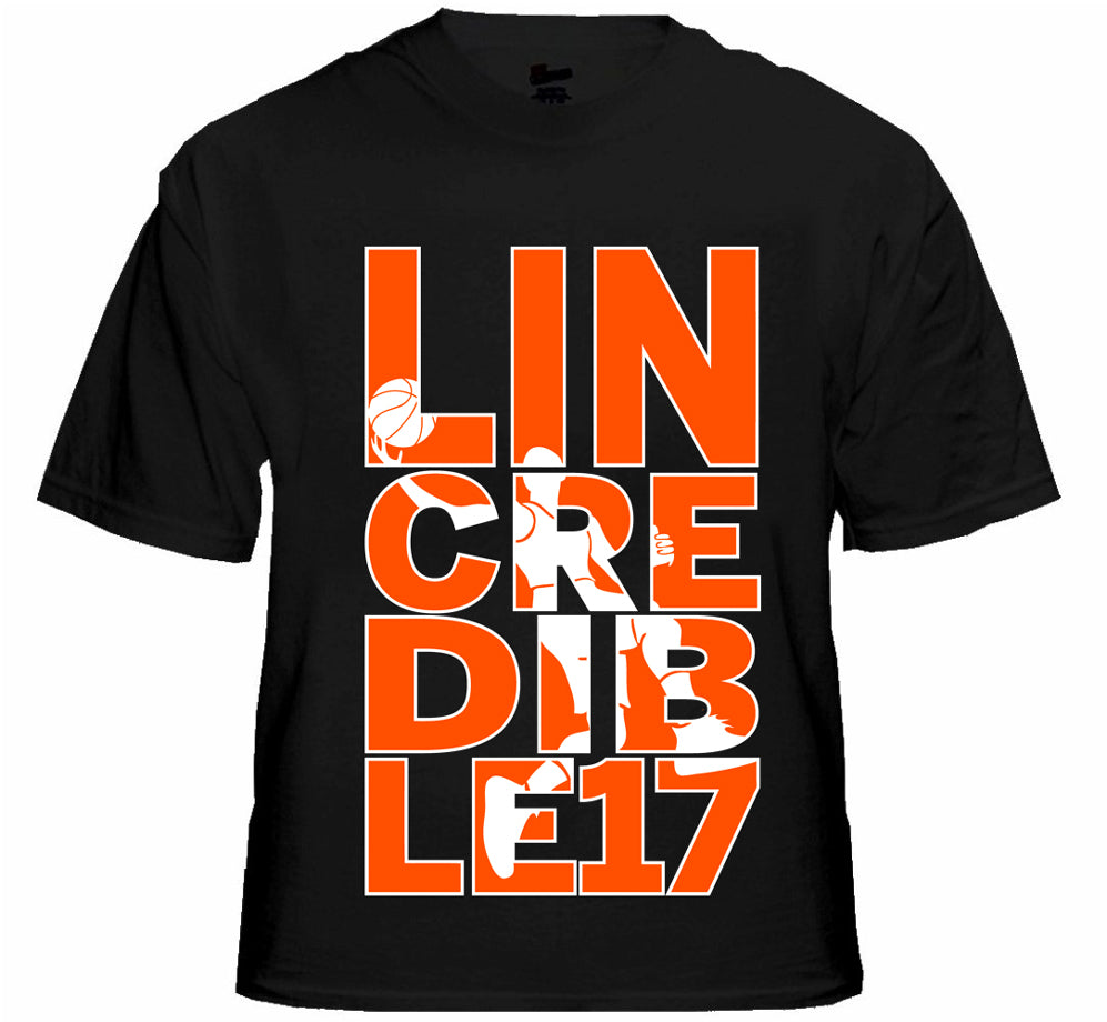 LINcredible Mens T-shirt, Lin-Credible, Jeremy Lin Sayings Basketball Player Men's Tee Shirt