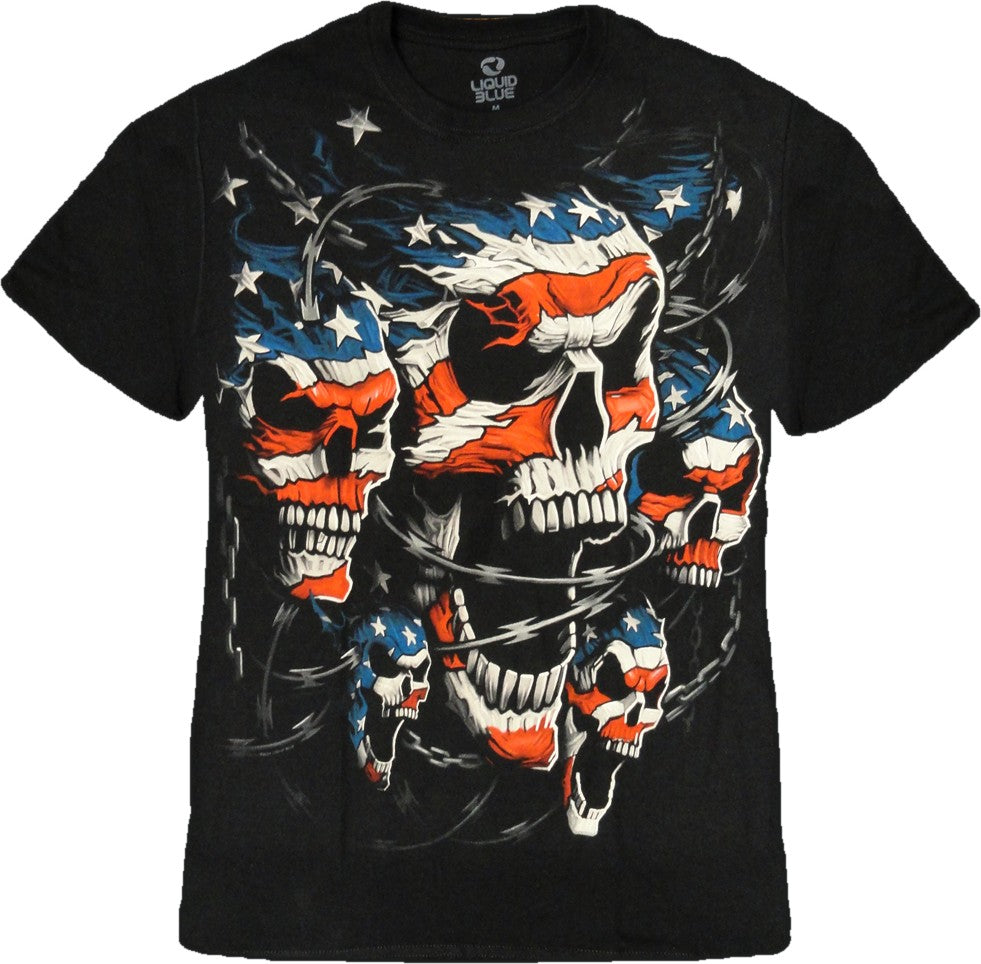 "Liquid Blue ""Patriot Skull"" T-Shirt"