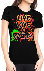 Live, Love & Party Neon Color Girls T-Shirt