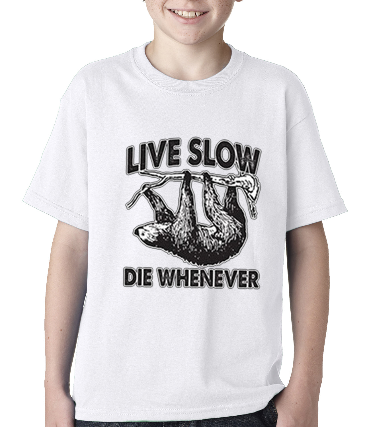 Live Slow, Die Whenever Kids T-shirt