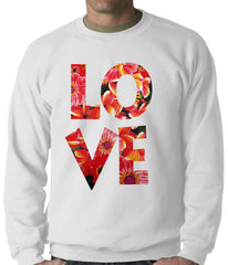 Love Floral Pattern Adult Crewneck