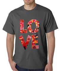 Love Floral Pattern Mens T-shirt