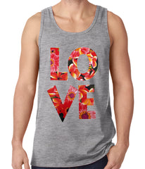 Love Floral Pattern Tank Top