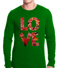 Love Floral Pattern Thermal Shirt