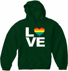 Love Rainbow Heart Adult Hoodie