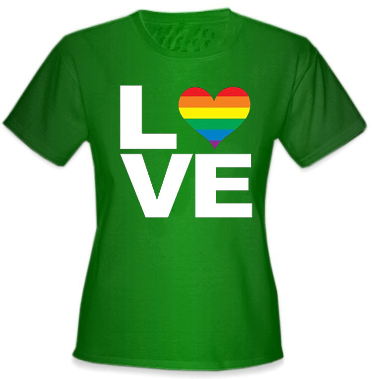 Love Rainbow Heart  Girl's T-Shirt