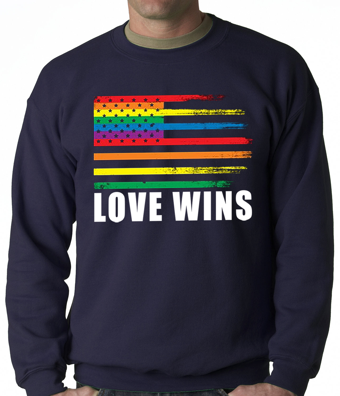 Love Wins - Gay Marriage Equality Adult Crewneck