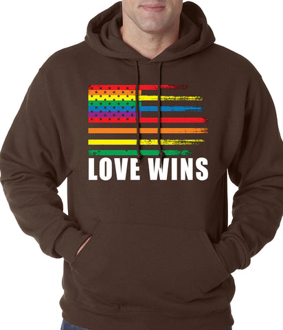 Love Wins - Gay Marriage Equality Adult Hoodie
