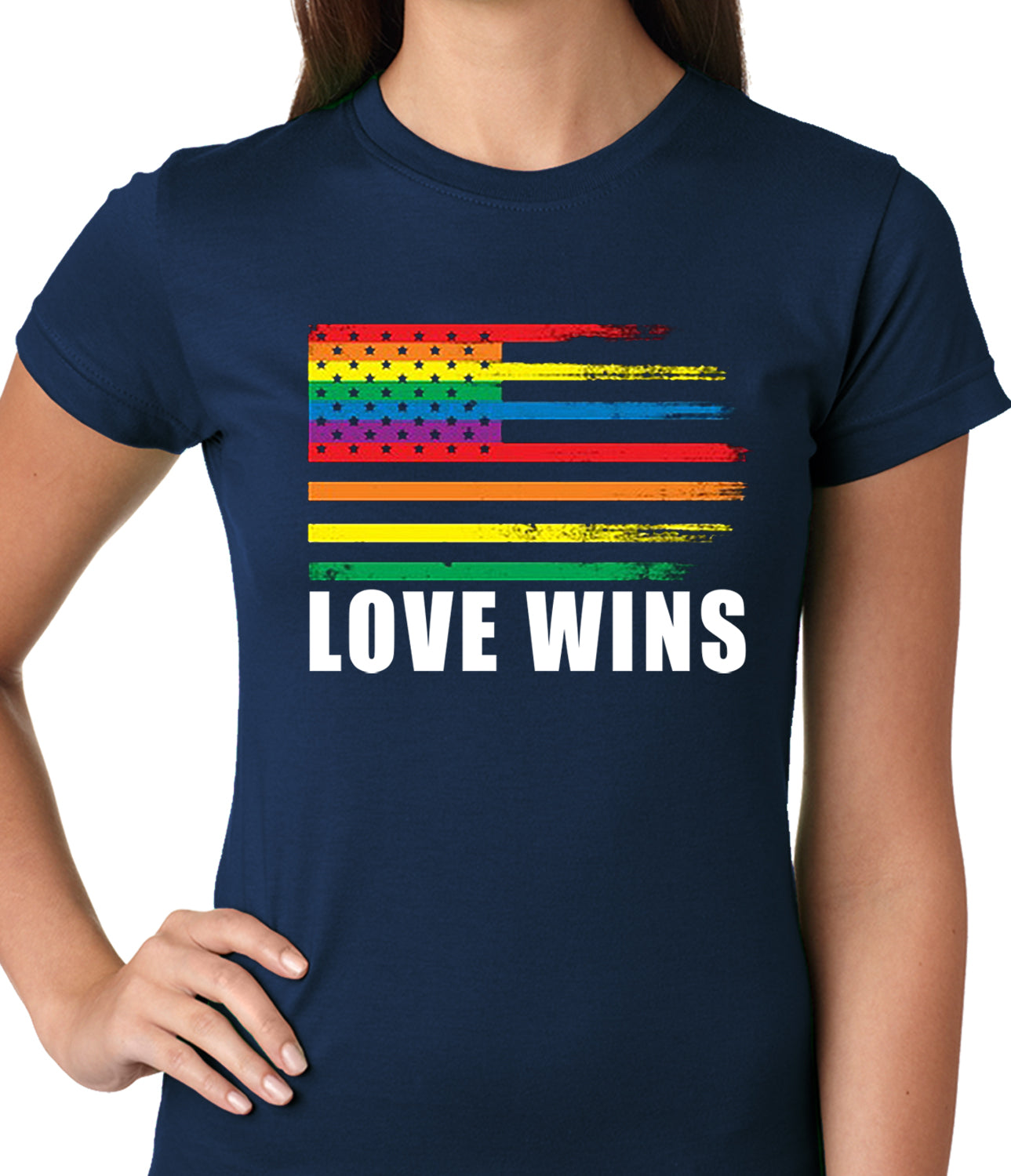 Love Wins - Gay Marriage Equality Ladies T-shirt