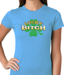 Lucky B*tch Irish Shamrock Girls T-shirt