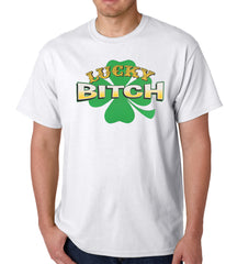 Lucky B*tch Irish Shamrock Mens T-shirt