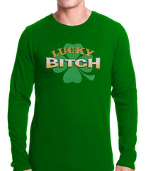 Lucky B*tch Irish Shamrock Thermal Shirt