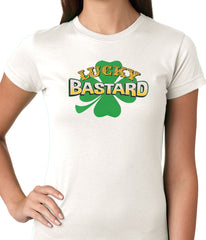 Lucky Bastard Irish Shamrock Girls T-shirt