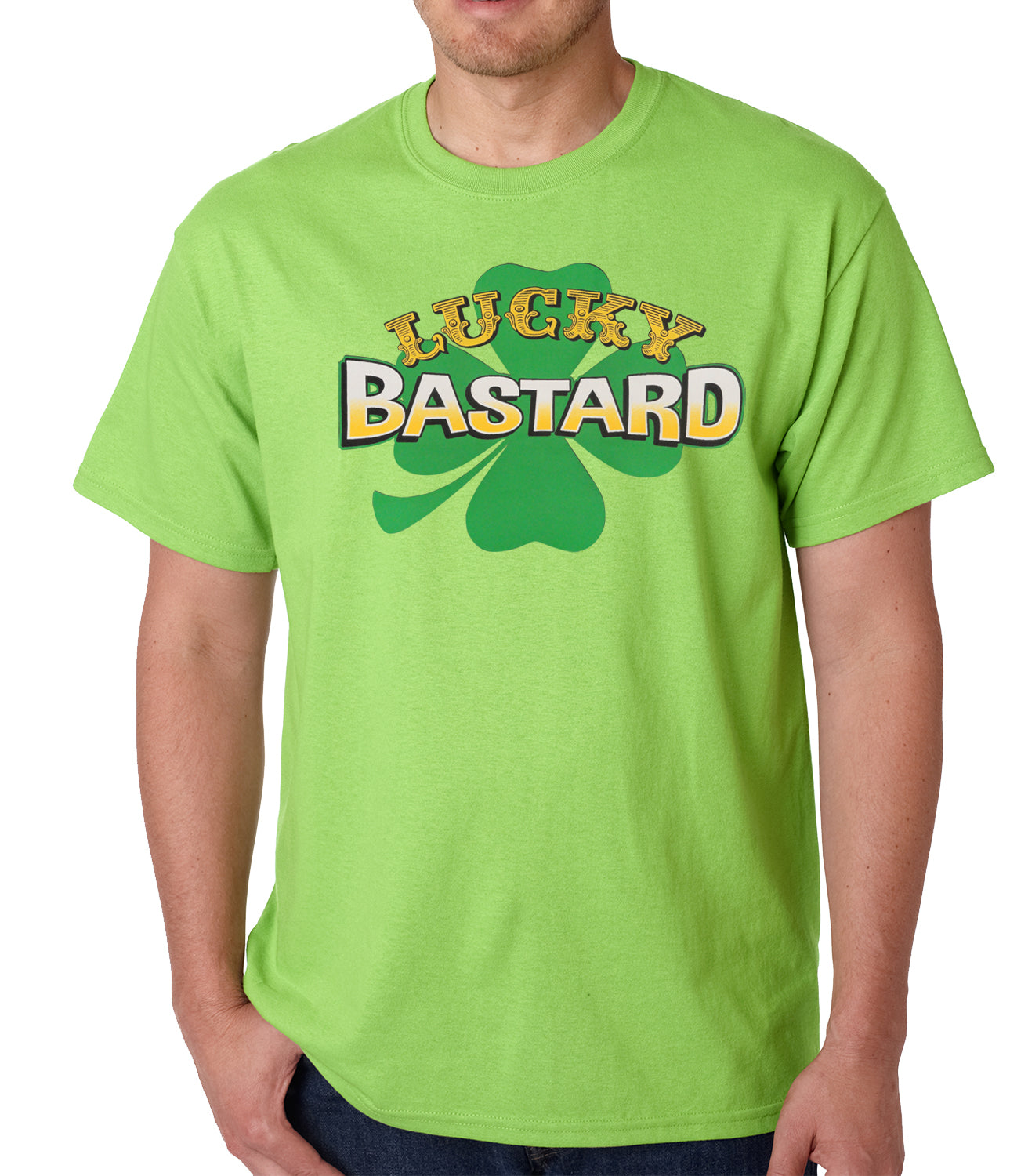 Lucky Bastard Irish Shamrock Mens T-shirt