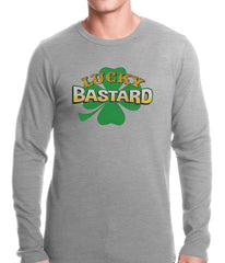 Lucky Bastard Irish Shamrock Thermal Shirt