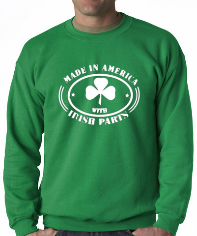 Made In America With Irish Parts Adult Crewneck