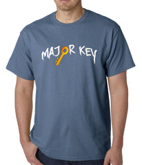 Major Key To Succes Emoji Key Mens T-shirt