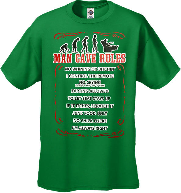 Man Cave Rules Men's T-Shirt