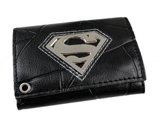 Man Of Steel Superman Leather Chain Wallet