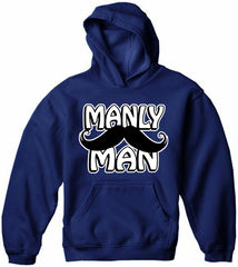 Manly Man Mustache Adult Hoodie