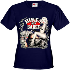 Marilyn Monroe Bikes and Babes Girl's T-Shirt