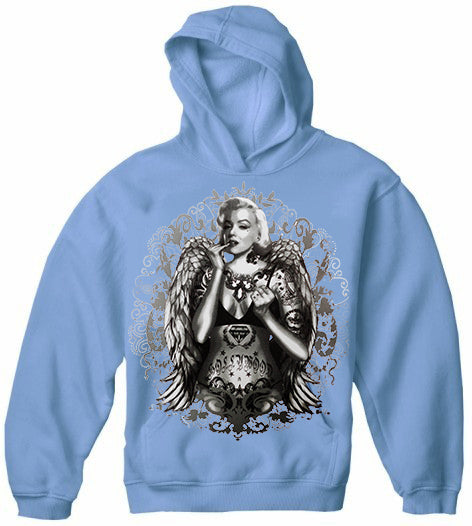 Marilyn Monroe Hollywood Tattoo Adult Hoodie
