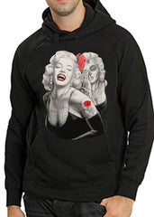 Marilyn Monroe Smile Now Cry Later Adult Hoodie