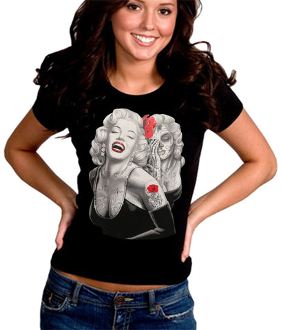 Marilyn Monroe Smile Now Cry Later Girl's T-Shirt