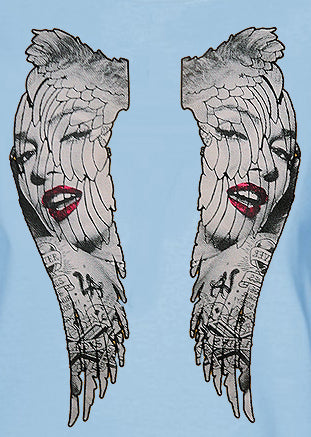 Marilyn Monroe Wings Girls T-Shirt