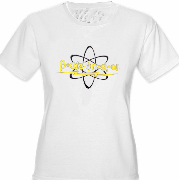 Math Equation From Girl's T-Shirt
