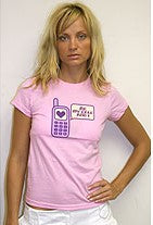 Me My Cell And I Girls T-Shirt