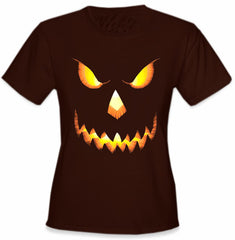 Mean Pumpkin Head Girls T-Shirt
