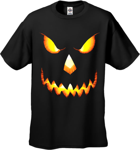 Mean Pumpkin Head Halloween Men's T-Shirt