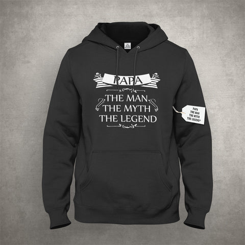 Mens Papa - The Man, The Myth, The Legend Fathers Day Adult Hoodie