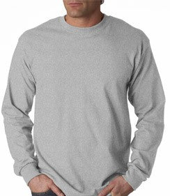Mens Premium Long Sleeve T-Shirt (Ash Grey)