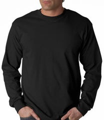 Mens Premium Long Sleeve T-Shirt (Black)