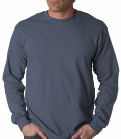 Mens Premium Long Sleeve T-Shirt (Indigo Blue)