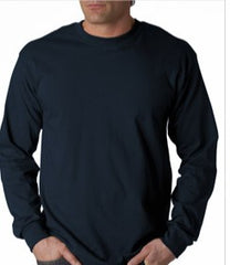 Mens Premium Long Sleeve T-Shirt (Navy)