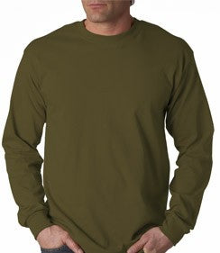 Mens Premium Long Sleeve T-Shirt (Olive)