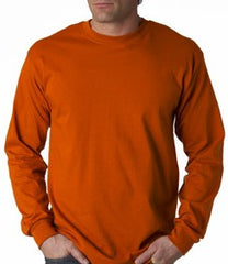 Mens Premium Long Sleeve T-Shirt (Orange)